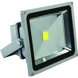 Προβολέας LED COB 50W 230V αλουμινίου γκρι Cubalux