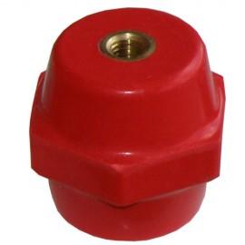 Εξάγωνος μονωτήρας πορσελάνης M8 H40 κόκκινος Elvhx