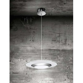 Φωτιστικό κρεμαστό LED 6226 6228 χρώμιο με σατινέ γυαλί
