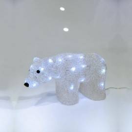 Χριστουγεννιάτικο ακρυλικό τάρανδος με 40 λευκά LED Eurolamp