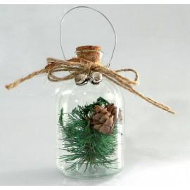 Χριστουγεννιάτικο στολίδι κουδουνάκι μωβ σετ 10 τεμάχια Eurolamp