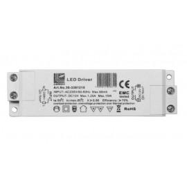 Μετασχηματιστής πλαστικός 230V/12VDC 15W για ταινίες & λάμπες LED
