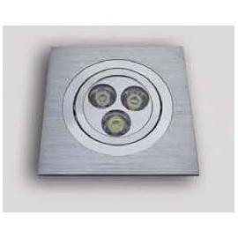 Σποτ χωνευτό LED μεταλλικό σε χρώμιο