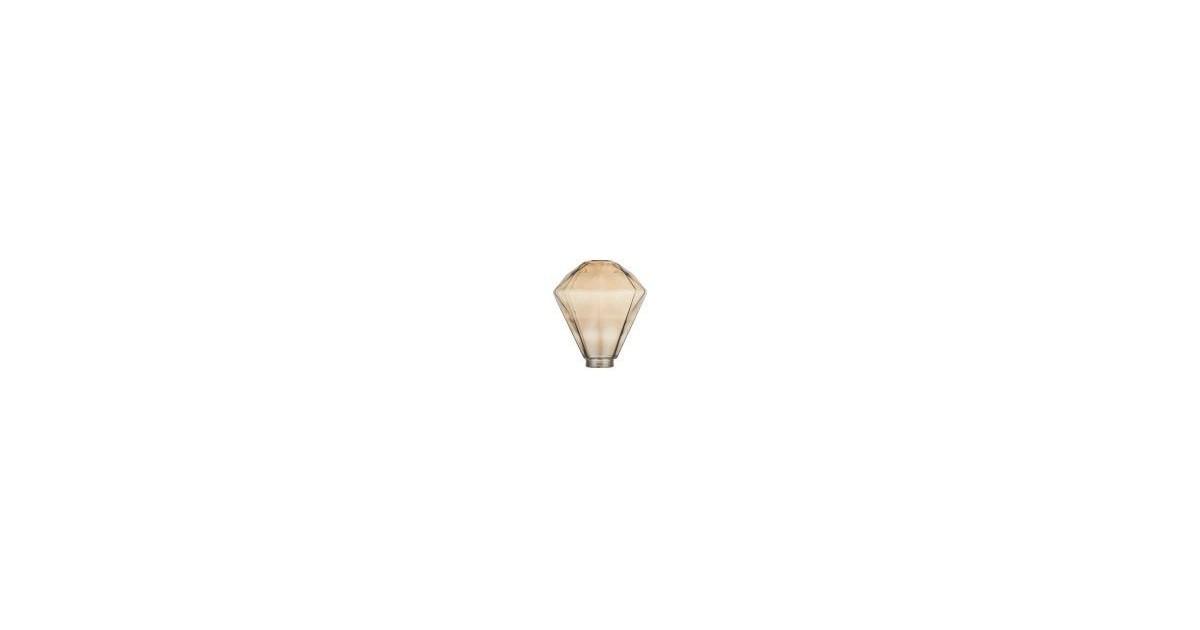 Γυαλί φωτιστικού DIAMOND 125x140 διαφανές κεχριμπάρι