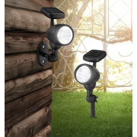 Φωτιστικό ηλιακό επιδαπέδιο και επιτοίχιο LED μαύρο