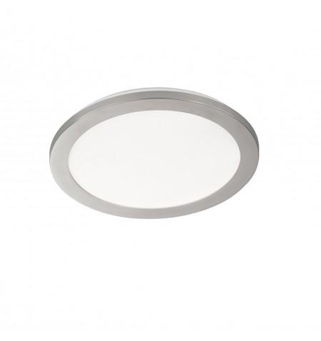 Πλαφονιέρα LED Gotland Λευκό-Νίκελ