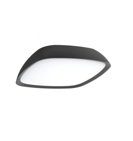 Πλαφονιέρα Cosmo αλουμινίου ανθρακί με σκιάδιο από PC Viokef