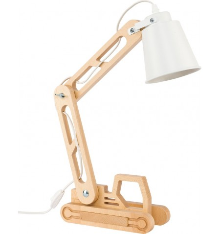 Παιδικό Φωτιστικό Γραφείου LED Lift ξύλινο με λευκό καπέλο TK Lighting
