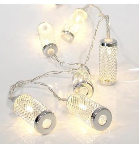 Διακοσμητικά Φωτάκια 10 γυάλινα βαζάκια με πλέγμα LED μπαταρίας Eurolamp