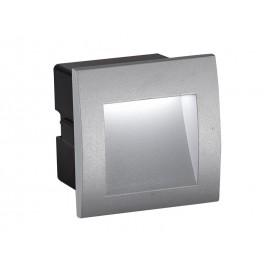 Απλίκα τοίχου χωνευτή LED RIVA αλουμινίου γκρι