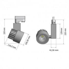 Σποτ - φωτιστικό ράγας FLAFY COB LED αλουμινίου Φ10.5